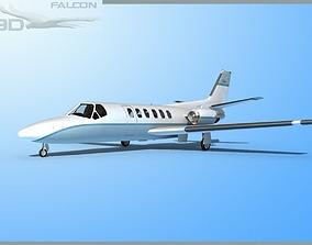 Falcon3D Citation V 560 F01 rigged
