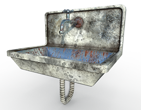 3D asset Dirty - Clean Game-Ready Sink