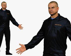 001296 man in security black suit 3dp