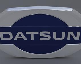 3D datsun logo
