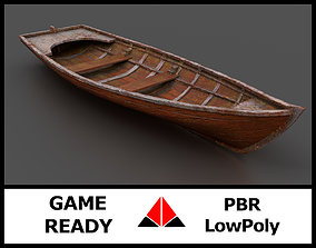 Rowboat 3D model game-ready
