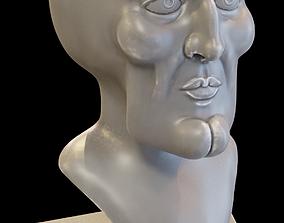 3D printable model Handsome Squidward bust