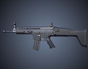SCAR-L Rifle 3D model