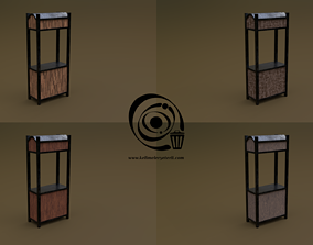 game-ready Trade stand 15 4in1 R - 4 PBR Texture 1 Model
