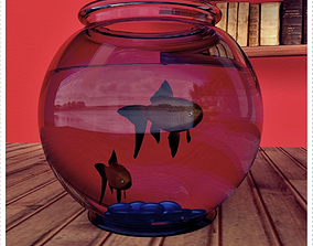 Fish Model with Fish Jar 3D