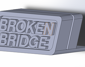 Vinyl record display Broken Bridge 3D printable model