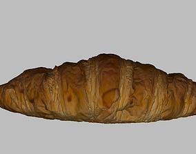 3D asset realtime PBR Croissant