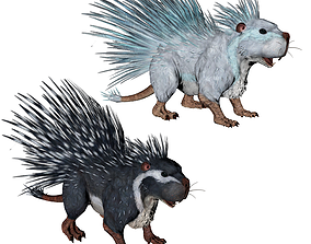 Hedgehog 3D asset animated