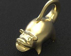 hippo pendant 001 3D print model