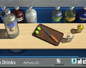 Absolut Vodka Drinks 3D model