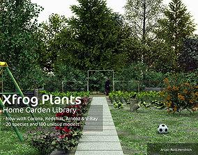 3D model 2020 XfrogPlants Home Garden Library