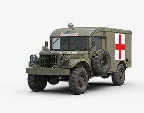 3D M43 Dodge Ambulance