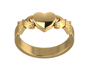 3D printable model romance claddagh ring