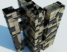3D Futuristic Skyscraper 4