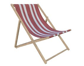 beach sun lounger 3D