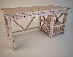 3D asset Rustic X Office Desk