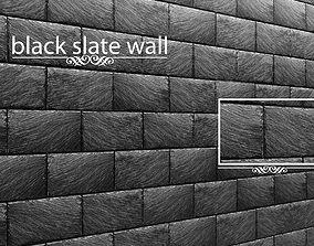 Stone slate black 3D 36