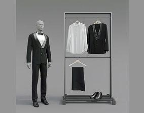 Classic male tuxedo 3D