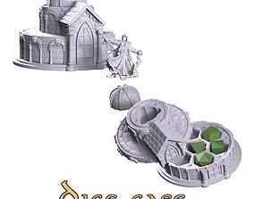play 3D print model Dice case paladin