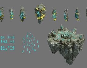 3D model Taoism - the altar of stone gobi