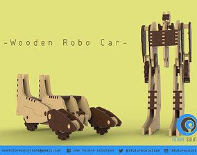 3D printable model Wooden Robo Car