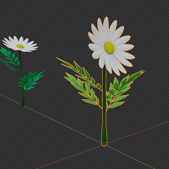 pack of 9 flowers low poly