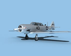 North American SNJ USN V08 3D model