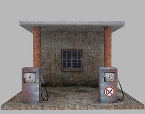 station Gas Station 3D model realtime