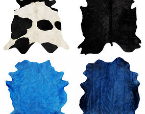 3D model Four rugs from animal skins 02