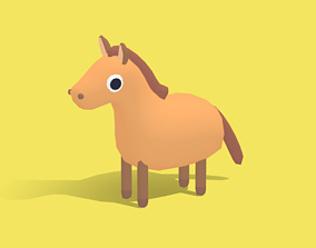 Hasty the Horse - Quirky Series 3D model