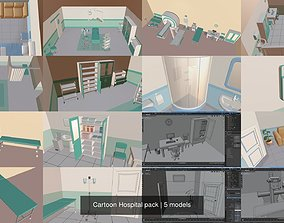 Cartoon Hospital pack 3D model