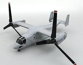 3D asset V22 Osprey Helicopter