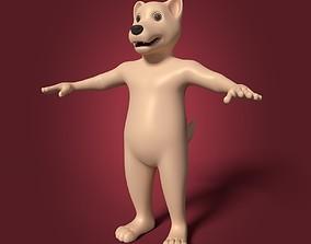 Cartoon Mascot Dog - Wolf 3D asset
