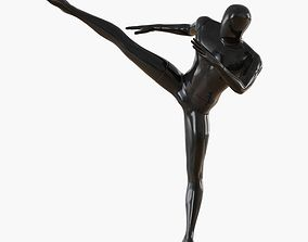 3D Abstract male mannequin fighter karate 16