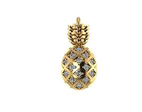 Ready to print Pineapple jewelry 3D printable model