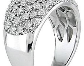 Fancy Diomand Ring 3d Model Print engagement platinum
