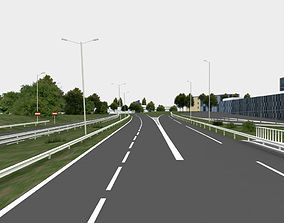 city highway navigation 3D road