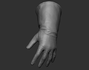 High Leather Gloves 3D
