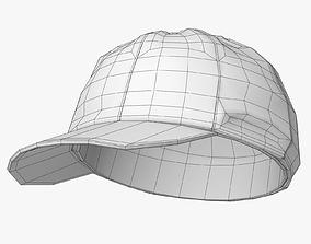 Cricket Cap Lowpoly 3D model