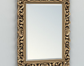 Rectangle mirror frame 006 3D