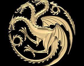 Game of Thrones - House Targaryen sigil Low poly 3D model