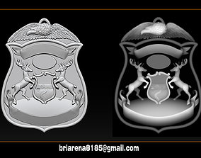 Police Badge Pendant - Michigan State 3D print model