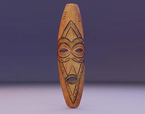 African Mask 06 3D asset