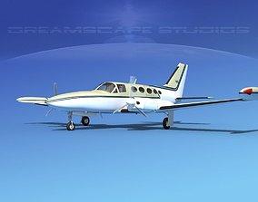 3D model Cessna 414 Chancellor V02