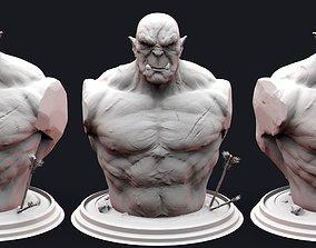 Orc Bust 3D printable model head