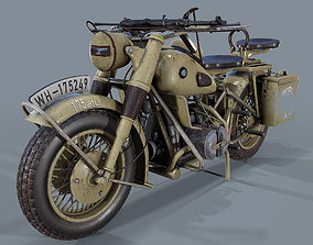 PBR German motorcycle R 75 Sahara WW2 3d model