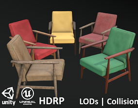 Soviet Armchair Lisek Collection 3D model