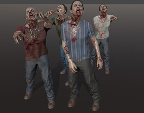 Zombie with T-Shirt 3D model
