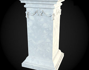 Pedestals architecture 3D