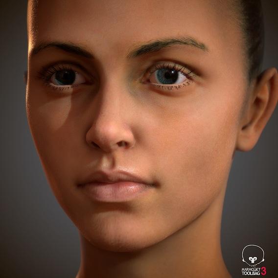Female Head lowpoly
